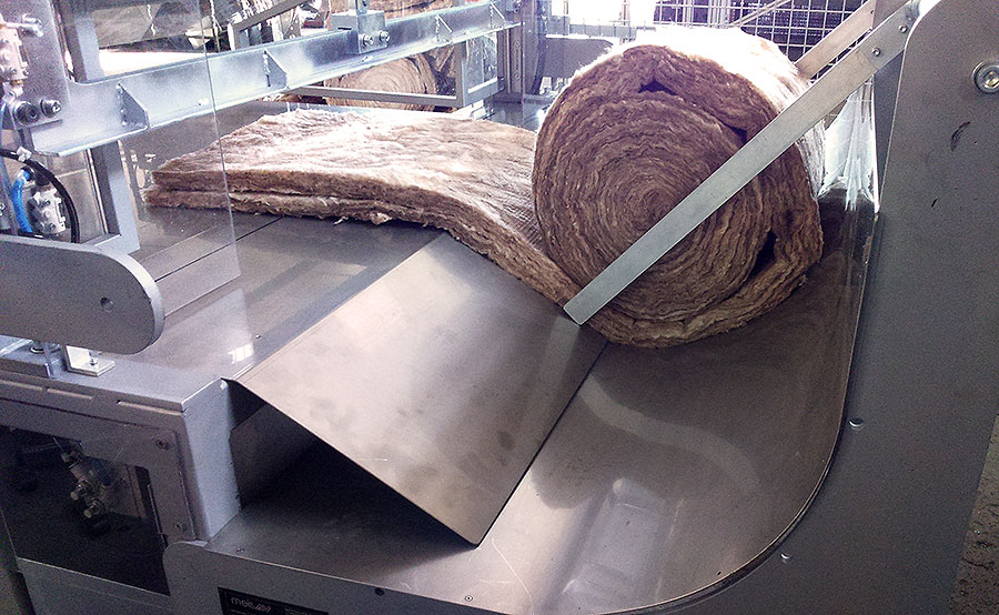 Máquina neumática corte fibra bobina